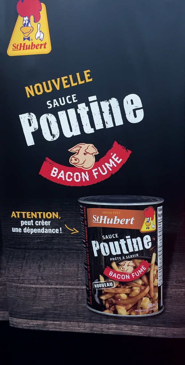 New from St-Hubert, smoked bacon poutine sauce