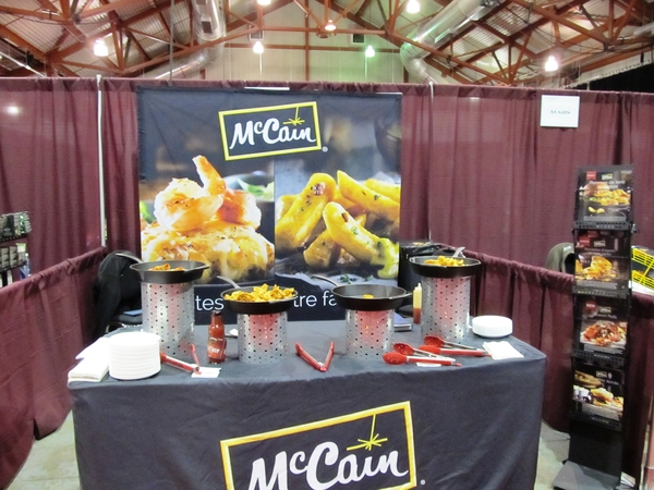 McCain booth, ready for the show